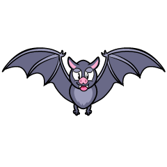 Bat with Wings Spread