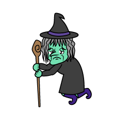 Witch with Cane