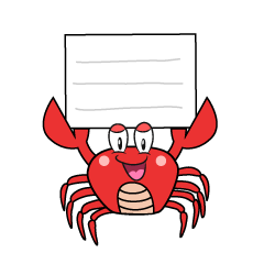 Crab with Board