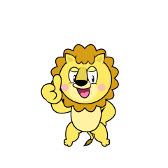 Thumbs up Lion