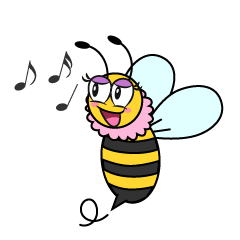 Girl Bee Singing