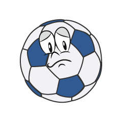Worried Soccer Ball