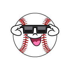 Baseball with Sunglasses