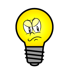 Angry Light Bulb