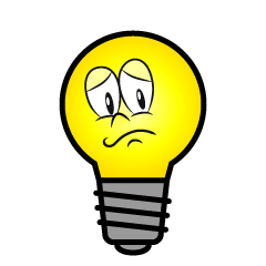 Worried Light Bulb