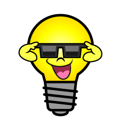 Light Bulb with Sunglasses