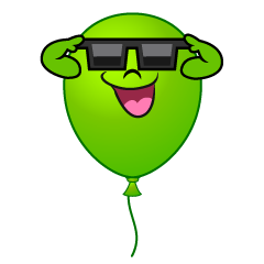 Balloon with Sunglasses