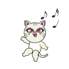 Dancing Girl Cat
