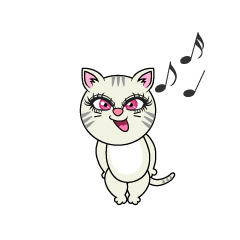 Singing Girl Cat