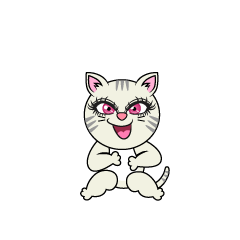 Laughing Girl Cat