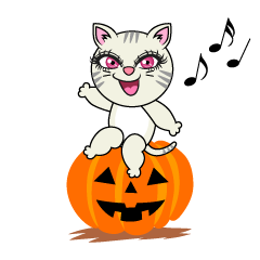 Girl Cat Halloween