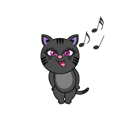 Singing Black Cat