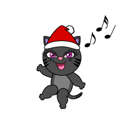 Black Cat Christmas