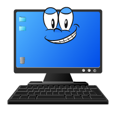 Grinning Computer