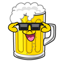 Beer with Sunglasses