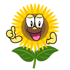 Thumbs up Sunflower