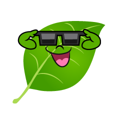 Leaf with Sunglasses
