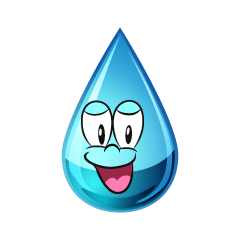 Smiling Water Drop
