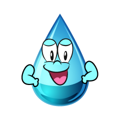 Confident Water Drop