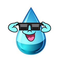 Water Drop with Sunglasses