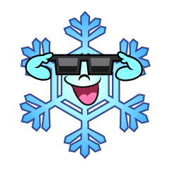 Snowflake with Sunglasses