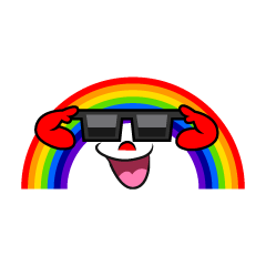 Rainbow with Sunglasses