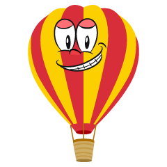 Grinning Hot Air Balloon