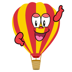 Posing Hot Air Balloon