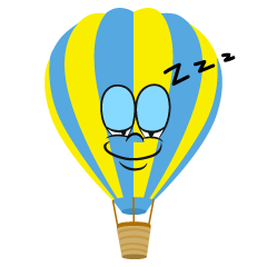 Sleeping Hot Air Balloon