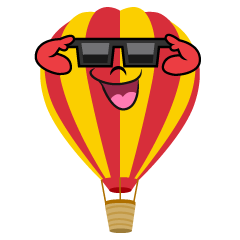 Hot Air Balloon with Sunglasses