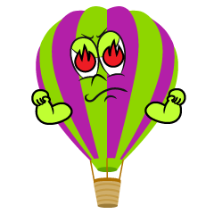 Furious Hot Air Balloon