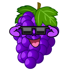 Grape with Sunglasses