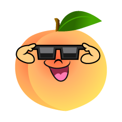 Peach with Sunglasses