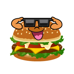 Burger with Sunglasses