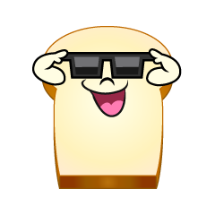 Bread with Sunglasses