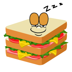 Sleeping Sandwich