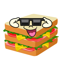 Sandwich with Sunglasses