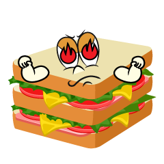 Burning Sandwich