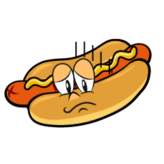 Depressed Hot Dog