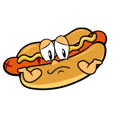 Troubled Hot Dog