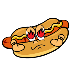 Burning Hot Dog