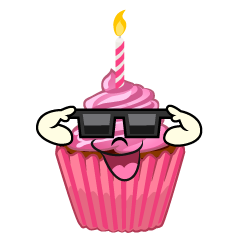 Cupcake with Sunglasses