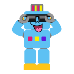 Robot with Sunglasses