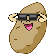 Potato with Sunglasses