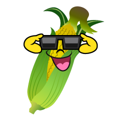 Corn with Sunglasses