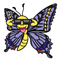 Butterfly with Sunglasses