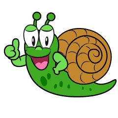 Thumbs up Snail
