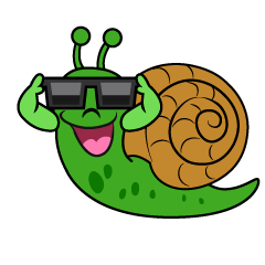 Snail with Sunglasses