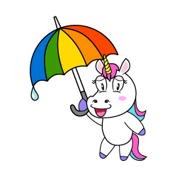 Unicorn with Umbrella