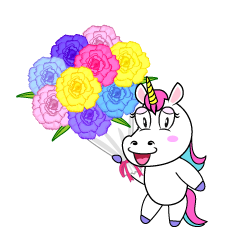 Unicorn with Bouquet